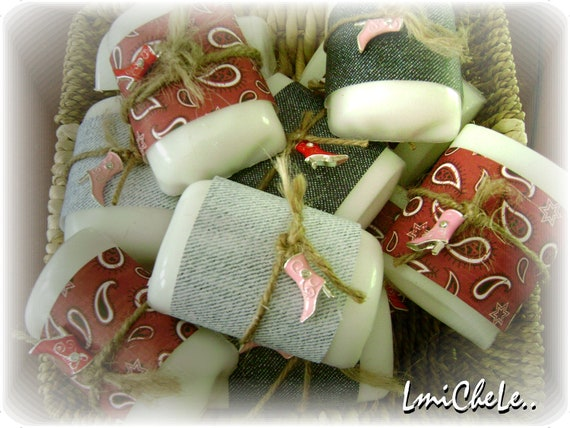 Handmade Bar Soap Party Favor Soap Bridal or Baby Shower Soap Western Cowgirl Theme