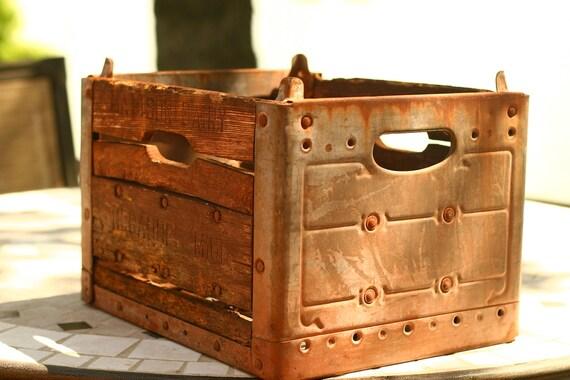 20% OFF SALE - Vintage Milk Crate, Wedding Decor, Wedding Card Box, Home Decor