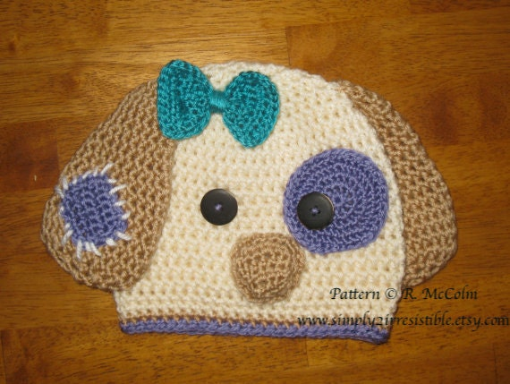 Patchy Puppy Hat Pattern Crochet Pattern 18 Beanie And Earflap