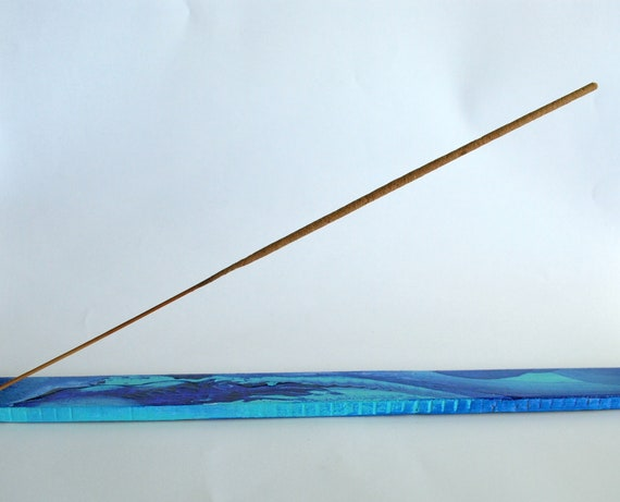 Handpainted Incense Holder - One Of A Kind Original Artwork - Incense