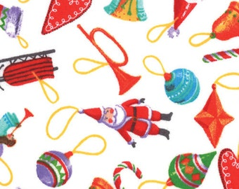 CLEARANCE - Winter Wonderland by Ingrid Snyder - Holiday Ornaments - White - Moda Fabrics
