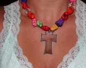 Rustc Western Bling Chunky Necklace