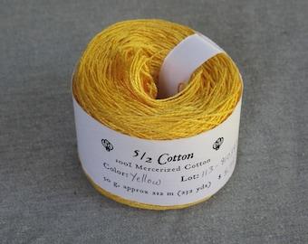 Yellow 5/2 Mercerized Cotton