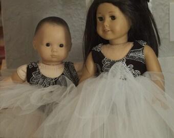 American Girl Black and White Dress