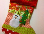 Personalized Christmas Quilted Stocking