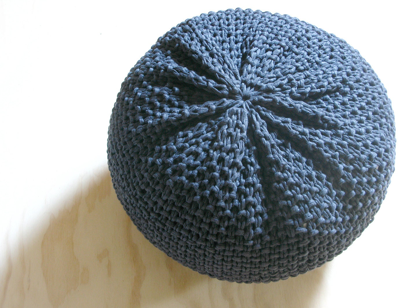 Knitted pouf ottoman foot stool floor pillow - Knitted pouf ottoman pattern ...