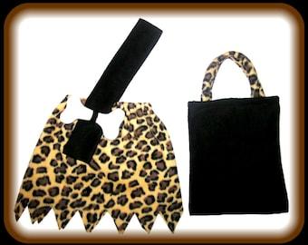 Bamm Bamm Flintstones Animal Print Cheetah Leopard Custom Made Caveman Halloween Costume