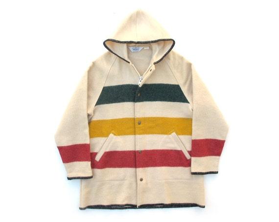Vintage Woolrich Womens Stripe Coat