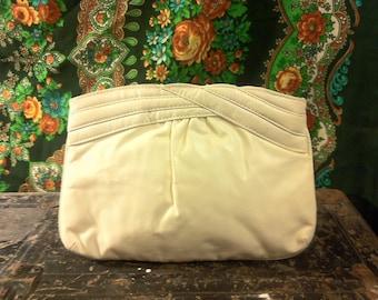 SALE Bohemian Hippie Purse Vintage Cream Clutch Bag