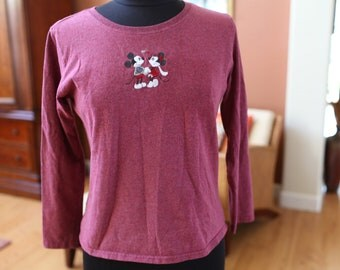 Women's Mickey and Minnie Long Sleeve Shirt