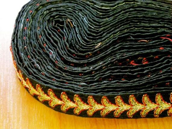Embroidery Ribbon, Embroidery Trim, Sari Trim 3 yards