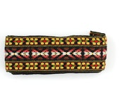 Vintage 1960's Tribal Sewing Trim - Embroidered Trim, Under 10, Gift for Girlfriend, Christmas Stocking Stuffer