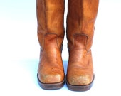 Women's Camel Brown Urban Boots, Vintage Boots, Vintage Leather Boots,  Brown BOOTS Leather, 1970's, Riding Boots,