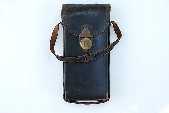 Eastman Kodak 1914 Camera Case 1A, Pocket Camera Case, Antique Leather, Camera Case, Brass Hardware, Leather Camera Case,