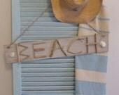 beachcomber rustic driftwood beach shack sign