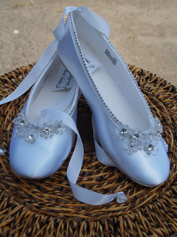 Sale Ready To Ship Size 8 Ballet Style Slipper White Satin