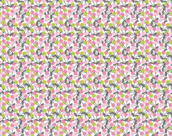 Field Day - Cherrie Jubilee in Pink (Cherries) - Josephine Kimberling for Blend Fabrics- 1/2 yard, Add'l Avail