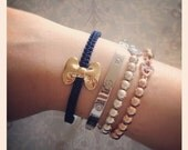 Adorable Bow Bracelet - navy blue