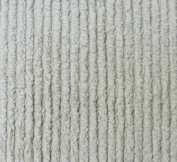 Cuddly Soft Sage Green Stripe Chenille - 1 Yard