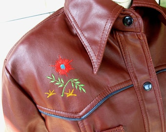 60's Western Embroidered Hippie Jacket by WESDOCK For Her, size M