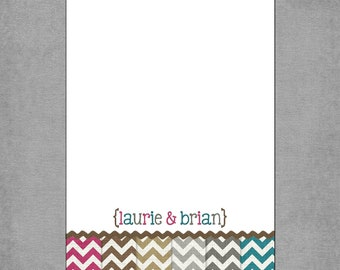 5x7 Notepads - Chevron