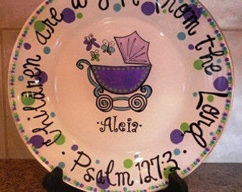 Baby Carriage Plate - Made to Order