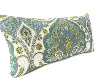 "Kravet ""Latika"" Ikat Decorative Pillow Cover 10X20-BOTH SIDES-Home Decor Fabric-Throw Pillow-Accent Pillow-Lumbar Pillow-Throw Pillow"