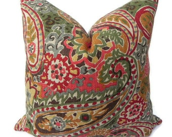 Paisley decorative pillow cover 10x20 home decor by pillowchix - Fabric for throw pillows ...