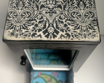 Tall NEW Polka Dot and Paisley JEWELRY BOX