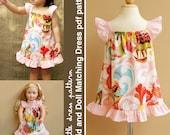 Lauren Kid and Doll Matching Dress - PDF Pattern, PDF Downloadable, Easy Pattern