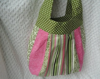 Large Insulated Sling Bag - Altered Amy Butler Pattern - Perfect for School or Diaper Bag
