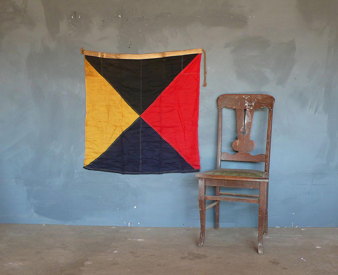 WW2 era signal flag. Z for Zulu