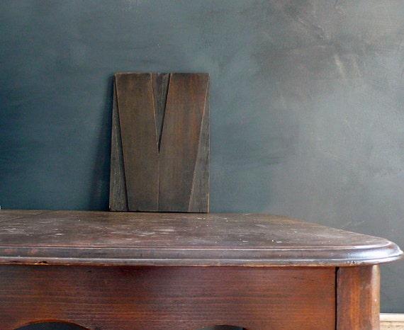 Enormous 16 Inch Wood LetterPress. V