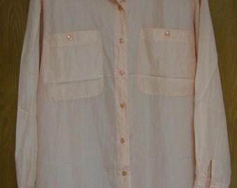 vintage peach silk shirt  by 'Express' size medium