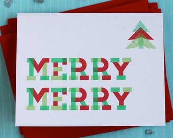 Plaid Holiday Cards : Christmas Tree Box of 8