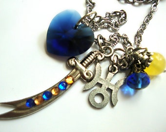 Sailor Uranus Space Sword Necklace