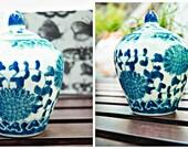 Vintage Miniature Asian Inspired Urn