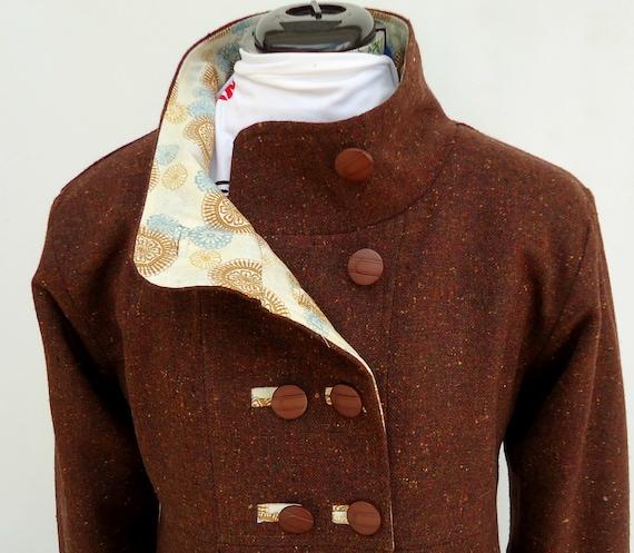 CZ Women New Casual Woolen Overcoat Long Coat Jacket Outwear Single Breasted Swing Coats £ HARRYSTORE Women Loose Casual Hooded Zip Hoodie Sweatshirt Ruffle Swing Coat Jacket .
