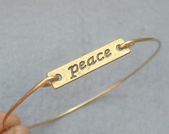 Peace  Bangle Bracelet Style 2