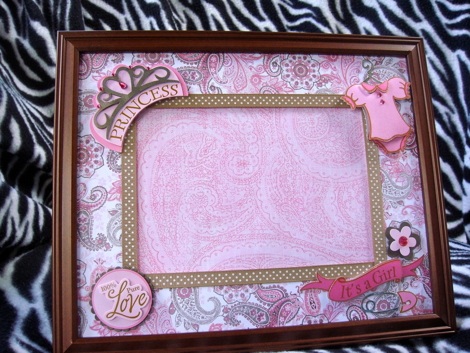Little Princess 8x10 Picture Frame W 5x7 Matte For Baby Girls