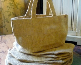 Burlap Bags Gift Bag Birthday Party Favor Treat Bag READY TO SHIP