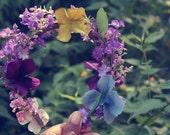 Flora- wildflower hippie woodland summer floral crown/   headband