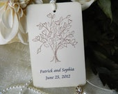 6 Wedding Wish Tree tags, Guestbook replacement, Personalized, Celebration