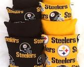 Set of 8 Steelers Corn hole Bags