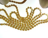 SaLe 30% Off Rhinestone Chain - 3 Feet - Topaz 24pp (3.20mm) 68 per foot Can be Soldered