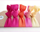 Hair Ties - Tutti Frutti Collection - Set of 5 - Elastic Hair Ties - Mane Accessory