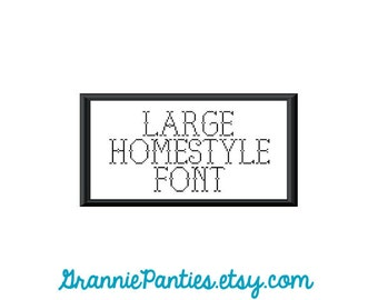 """PDF PATTERN ONLY - a Grannie Panties exclusive font """"Homestyle"""""""