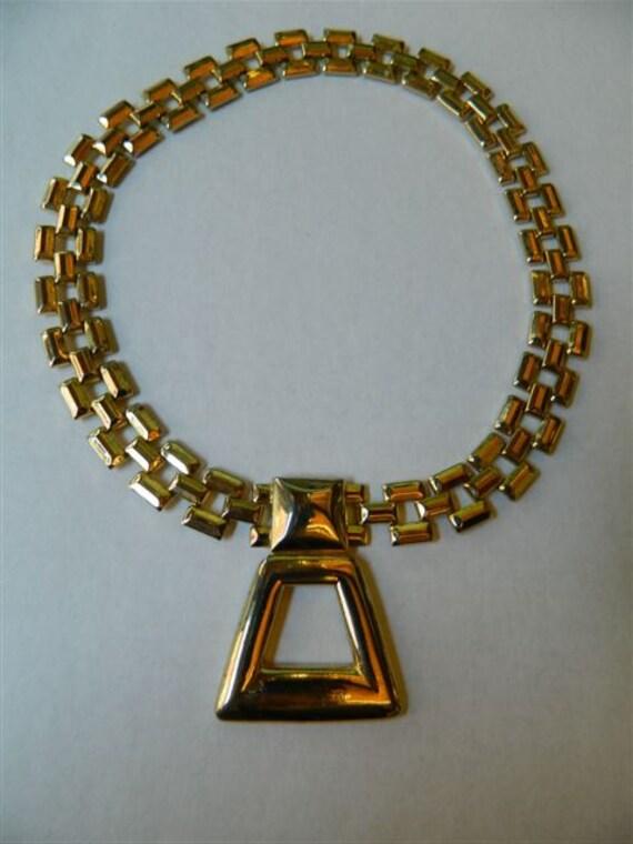Gold Geometric Vintage Necklace