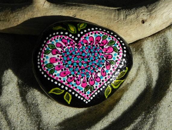 Sailor's Valentine /Painted Rock/ Sandi Pike Foundas / Cape Cod