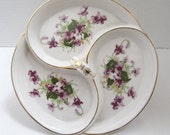 "Vintage Floral Sectional Dish ""Occupied Japan"" c.1950"